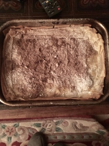 Finished Moroccan pastilla