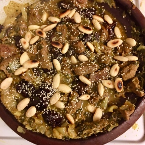 Prune almond and beef tagine